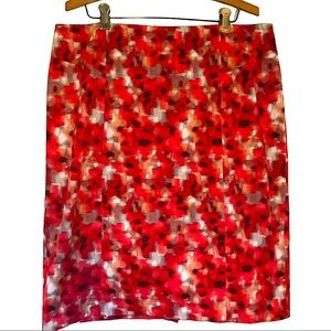 ANN TAYLOR Plus size lined floral print skirt
